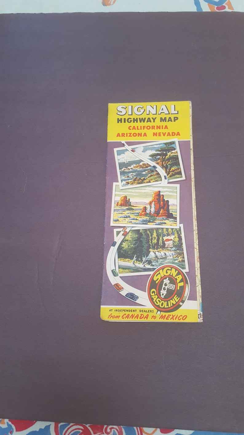 50s Road Map Signal Oil Co Great Graphics