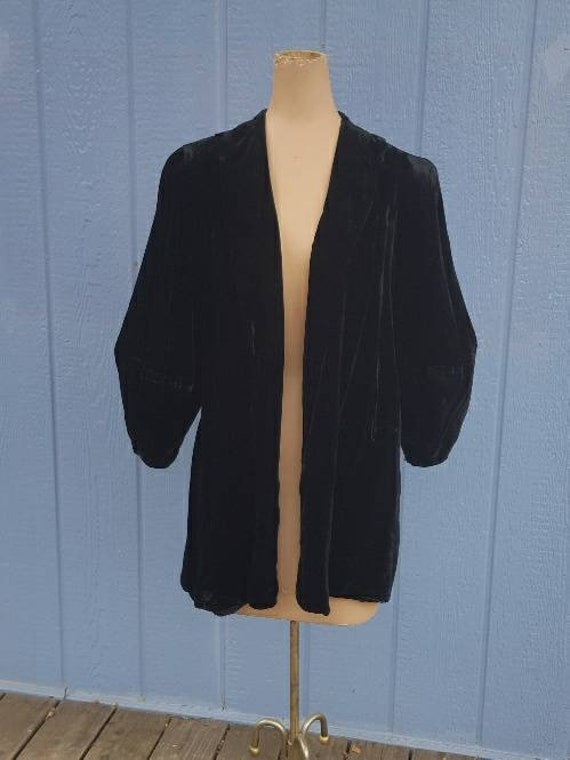 30s Silk Velvet Jacket - H. Liebes & Co.