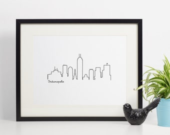 Printable Skyline Wall Decor - Indianapolis - Wall Decor - 8x10