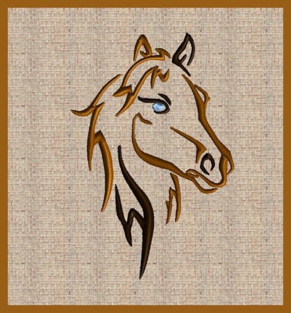 Pferd Stickerei Design Pferd Kopf Stickerei Design Pferd | Etsy