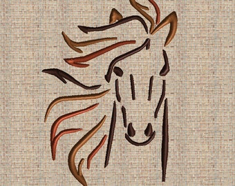 Horse Embroidery Design Horse Head Embroidery Design Horse Ouline Horse Head Silhouette