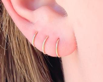 Gold Huggie Hoop Earrings, 14K Gold Filled Hoop Earrings, Small Hoop Earrings