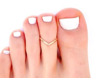 Gypsy Ring Gold Boho Rings Foot Accessories Gold Toe Ring Toe Ring Gold Bridesmaid Gifts Pinky Ring Adjustable Toe Ring