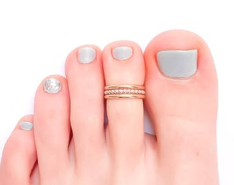 Adjustable Toe Ring, Silver and Gold Toe Ring, Thick Toe Ring, Sterling Silver Toe Ring, Gold Filled Toe Ring, Midi Ring, Knuckle Ring