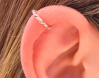 Silver Ear Cuff, Rose Gold and Sterling Silver Ear Cuff, 14k Rose Gold Filled, Sterling Silver, Ear Cuffs, Ear Cuff