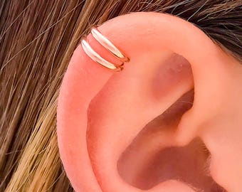Rose Gold Ear Cuff, Rose Gold Filled Ear Cuff, Cartilage Ear Cuff, No Pierce Ear Cuff, Rose Gold Earrings, Rose Gold Wrap Earrings