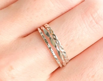 Dainty Stackable Rings, Silver Stack Rings, Sterling Silver Rings, Minimalist Ring, Stacking Rings, Stackable Rings, Dainty Ring