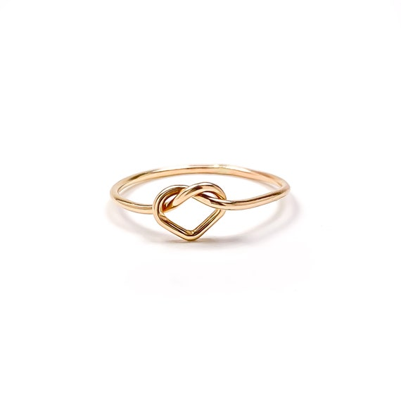Heart Knot Ring, Gold Knot Ring, Gold Heart Ring, Love Knot Ring, Gold  Filled Ring, Minimalist Gold Ring, Knot Rings, Tie the Knot Ring