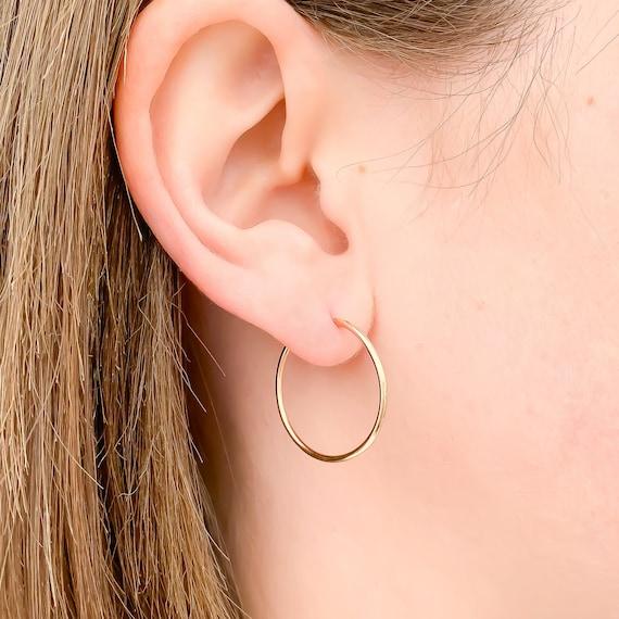 Wire Hoops Hammered Hoops Hoop Earrings Minimalist Hoop Earrings Rose Gold Earrings Rose Gold Filled Hoops Minimalist Earrings