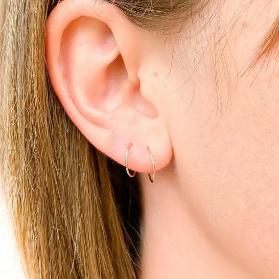 Small Gold Hoop Earrings Tiny Hoops 10mm 14K Hoop Earring Small Gold Hoops Mens Hoop Earrings Tiny Gold Hoops Tiny Gold Hoop Earrings