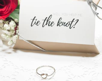 Silver Knot Ring, Bridesmaids Gifts, Tie the Knot, Love Knot Ring, Knot Ring, Stacking Ring, Bridesmaids Ring