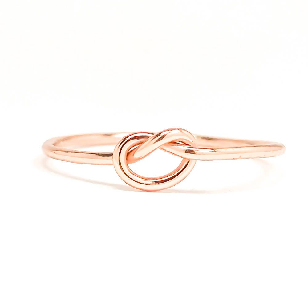 Rose Gold Knot Ring Tie The Knot Ring Love Knot Ring