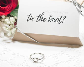 Thick Silver Knot Ring, Bridesmaid Gifts, Thick Knot Ring, Silver Knot Ring, Tie the Knot, Bridesmaid Jewelry, Love Knot Ring