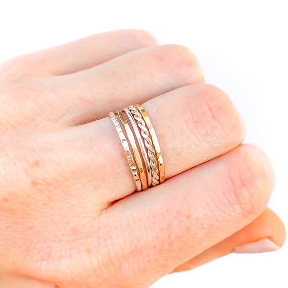 Stacking Rings sold individually Thin Round 14k Gold Filled Stackable Rings