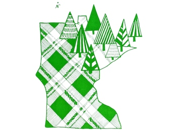 Minnesota Screen Printed 12x16 Poster