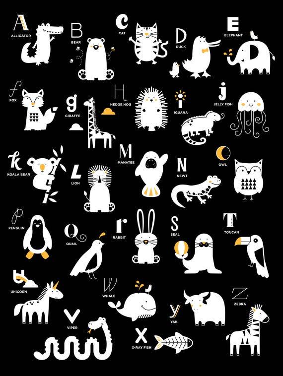 New Zealand Alphabet Nursery Print ABC poster New Zealand Art New Zealand Gift Nursery Wall Art abc poster kids