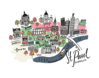 St. Paul Minnesota Map