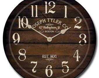 Chestnut Brown Wall Clock