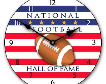 Football Hall of Fame Wall Clock
