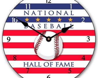 Baseball Hall of Fame Wall Clock