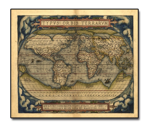 1500 S World Map Wall Art On Wood Etsy