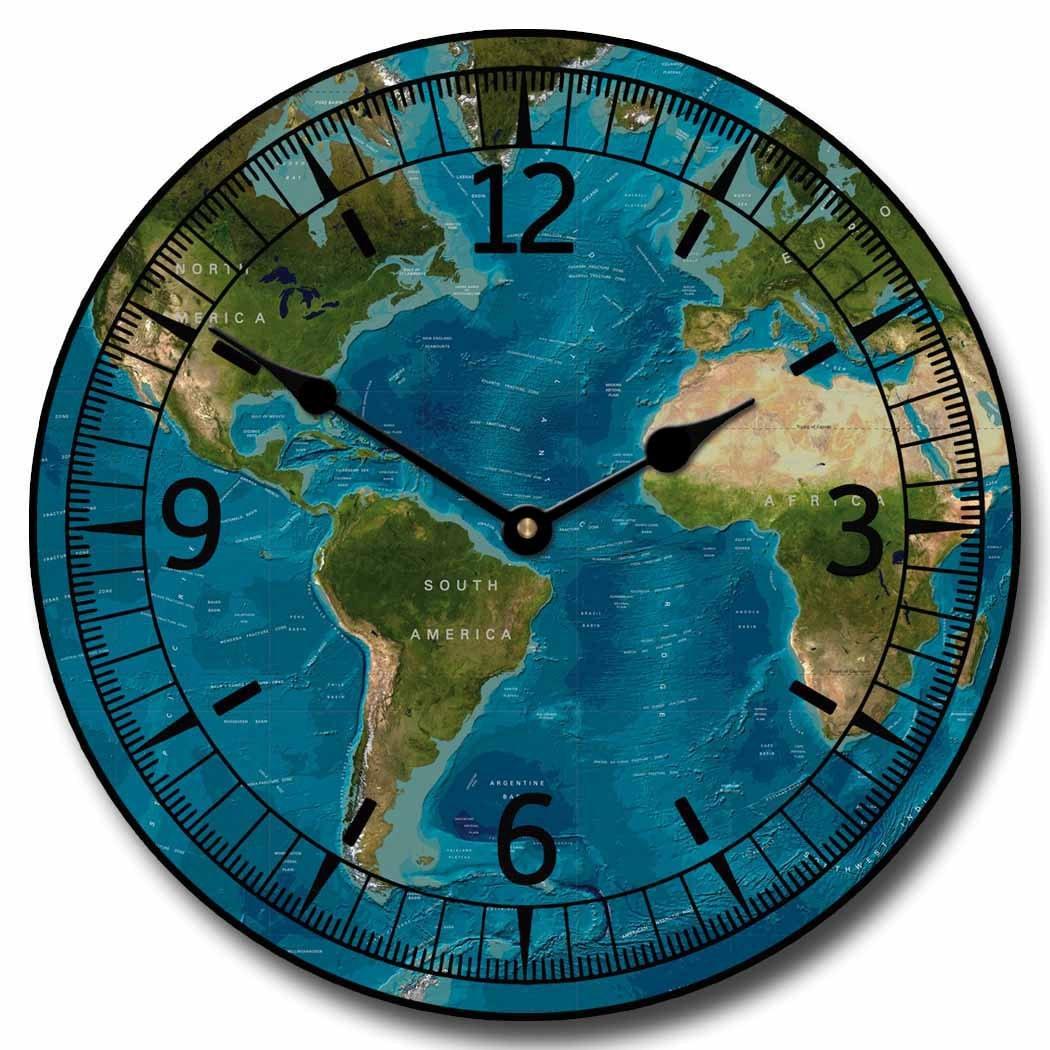 5f5d7153415 Tropical World Map Wall Clock