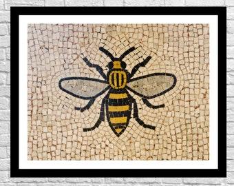Manchester Worker Bee Mosaic Wall Decor Art Photography Print