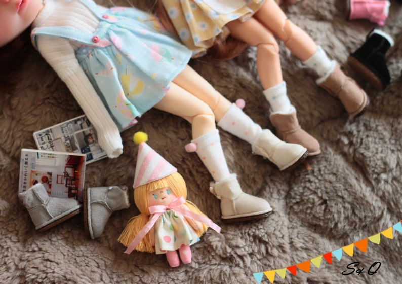 in 6 colors Winter boot for Blythe  Pullip  JerryB  Momoko  Azone  Pukifee