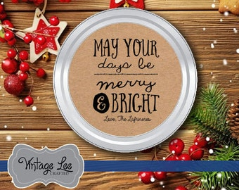 Christmas Mason Jar Label, Mason Jar Sticker, Baked Goods Labels, Baked With Love Stickers, Homemade Jam Label, Homemade Soap Sticker, Label