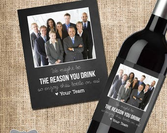 Bosses Day Gift Boss Wine Label Christmas Gifts For Her Him