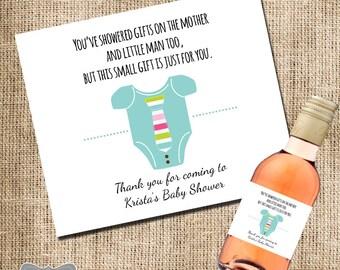 Mini Wine Label Baby Shower Favor, Gift For Hosting Baby Shower, Mini Wine  Label, Shower Hostess Gift, Baby Shower Wine Label, Custom Label