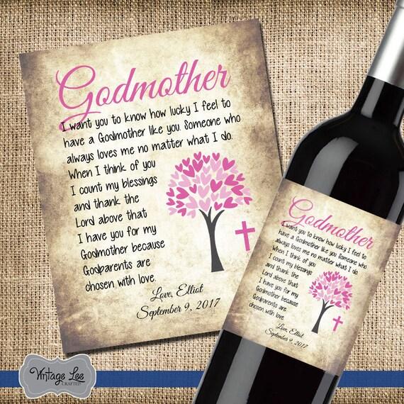 Dankeschön Geschenk Für Taufe Gott Eltern Danke Etikett Für Patin Etikett Für Pate Benutzerdefiniertes Etikett Etikett