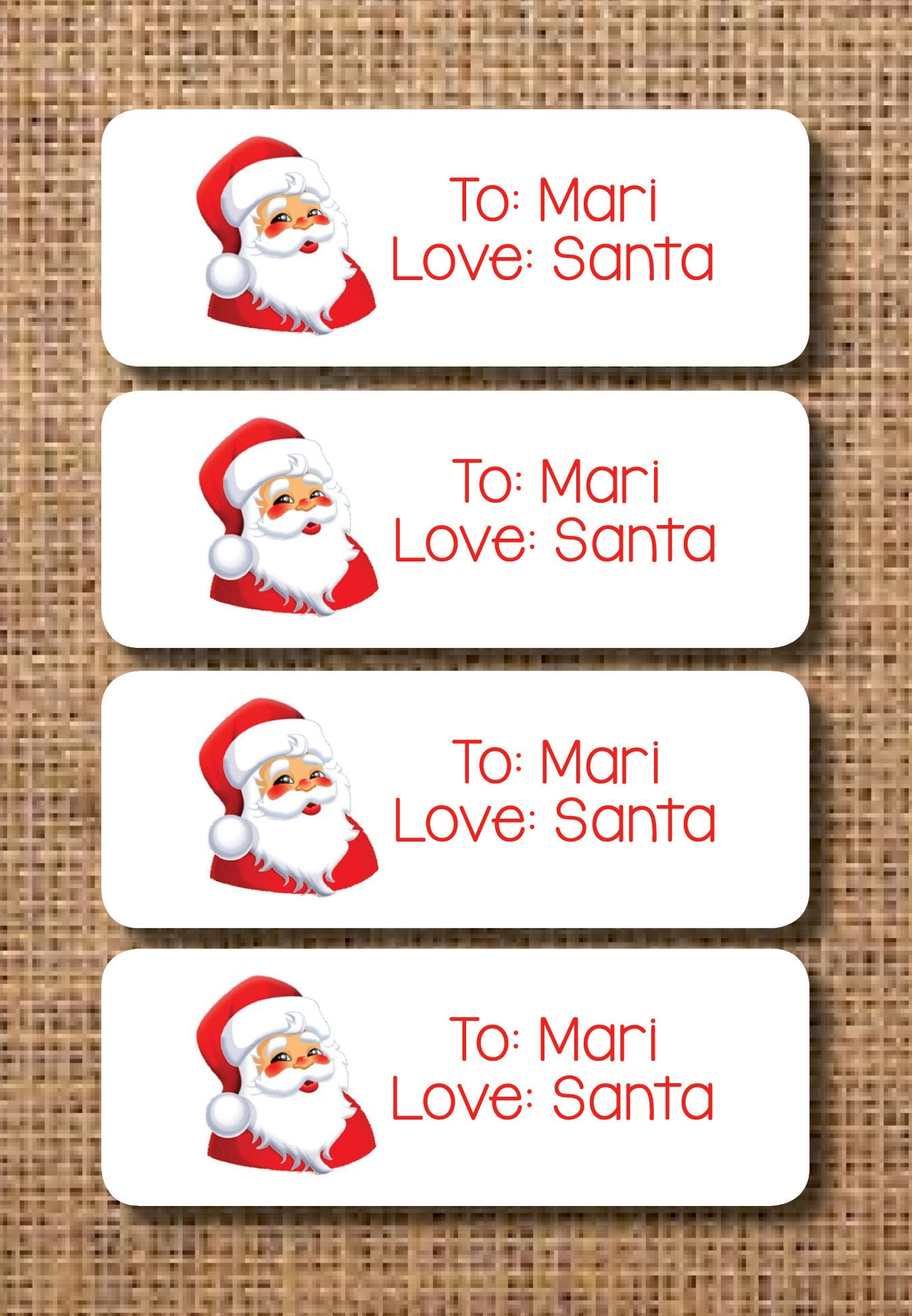 Santa Etiketten personalisierte Santa Etiketten Weihnachten | Etsy