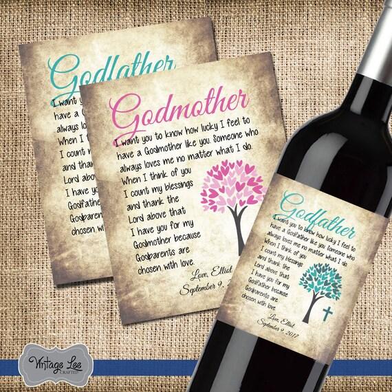 Taufe Dankeschön Geschenk Danke Gott Elternteil Weinetikett Für Patin Wein Label Für Pate Benutzerdefinierte Weinetikett Satz Von 2