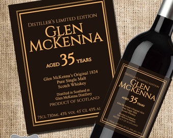 How I Met Your Mother Gift, Glen McKenna 35 Year Scotch Label, How I Met Your Mother Scotch, HIMYM Gift, Going to be Legendary Scotch Label