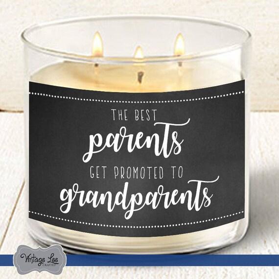 Pregnancy Announcement Grandparent Pregnancy Announcement Candle Label Pregnancy Reveal to Family Candle Pregnancy Reveal to Grandparents