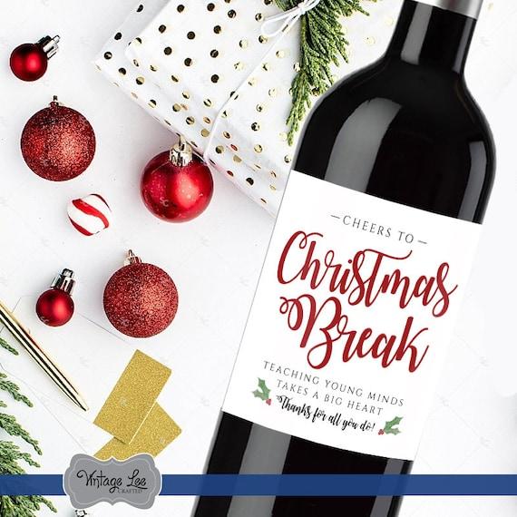 Weihnachts-Geschenk für Lehrer Lehrer Weihnachten Wein Label | Etsy