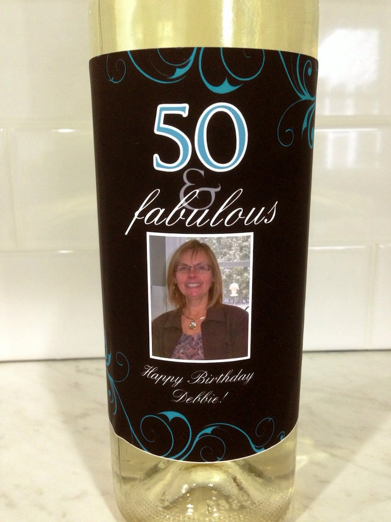 50th Birthday Wine Label Birthday Gift for Her 50th Birthday Gift for Women Wine Label 50th Birthday Gift for Friend 50th Birthday Gift