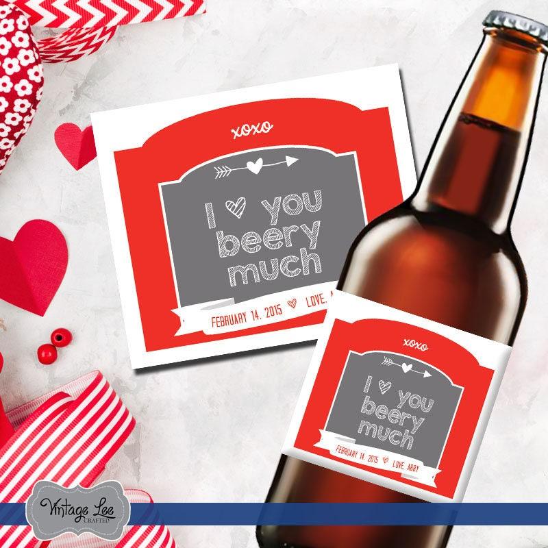 Valentinstag Geschenk für ihn Valentines-Bier-Etiketten | Etsy