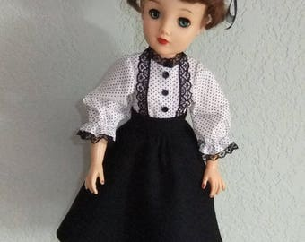 """Skirt set with hat and bloomers for 18"""" Miss Revlon"""