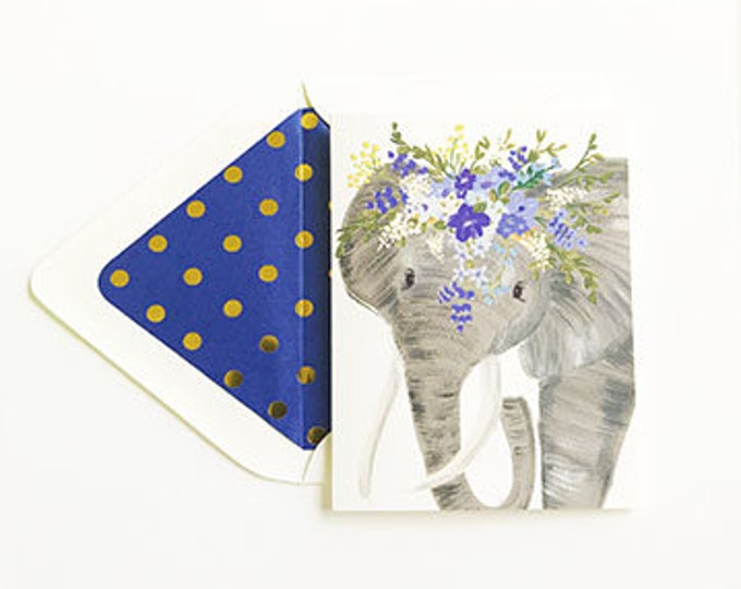 Talulah Elephant Floral Crown card