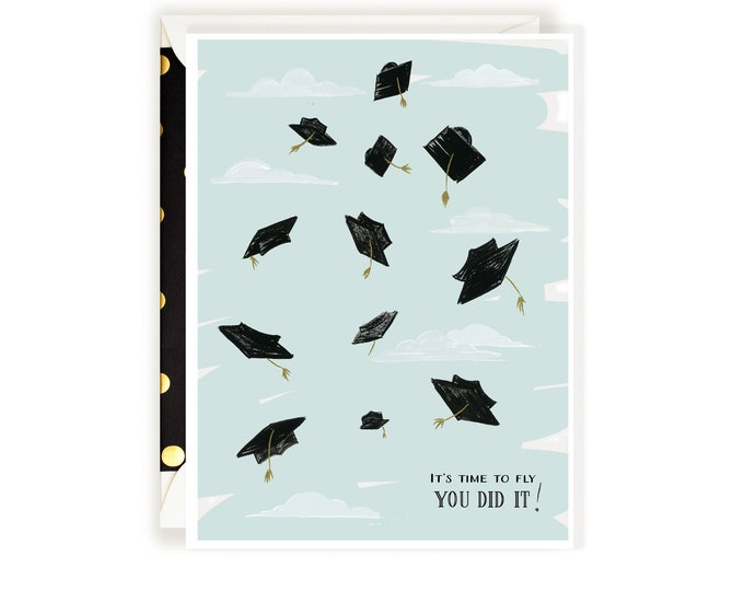 Time to Fly You Did It! Grad card