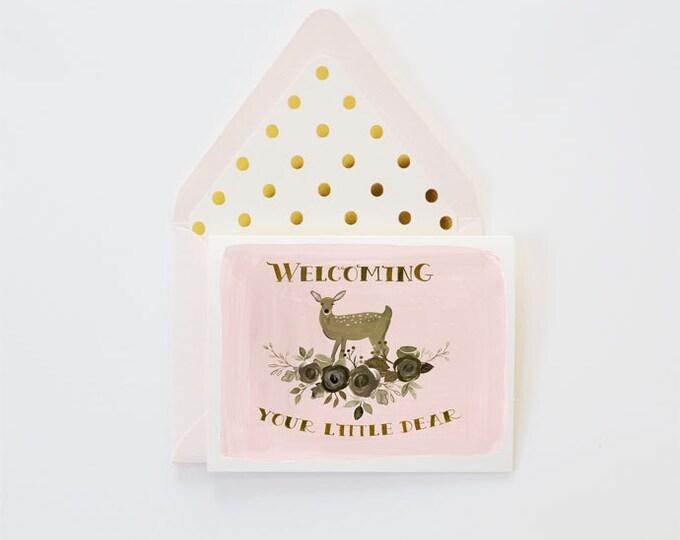 Welcome Little Dear Card