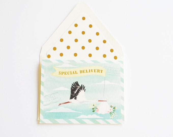 Special Delivery Baby Stork Card