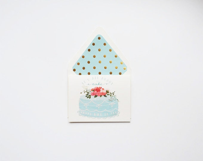 All About The Cake Birthday Card