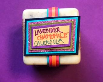 Lavender Chamomile Calendula Guest Soap