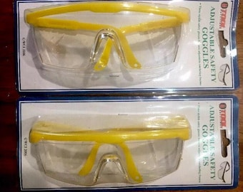 Safety Glasses- Safety Goggles Face Protection- Eye Protection -Protective Adjustable Safety Glasses Goggles- Brand New- Two Pairs