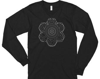 Multiverse ,long sleeve ,unisex, sacred geometry, sacred,festival clothing, nature, geometry, aya tribal, 420, boho, steam punk