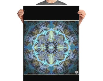 Poster Mandelbrot , art print , sacred geometry , visionary art ,fractal , mandala , flower of life , wall art , poster art , healing , gift