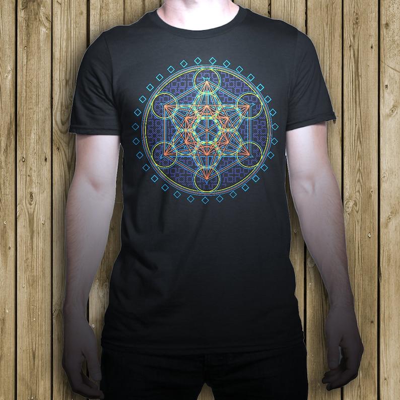 88e355603902 Metatron T shirt flower of life sacred geometry